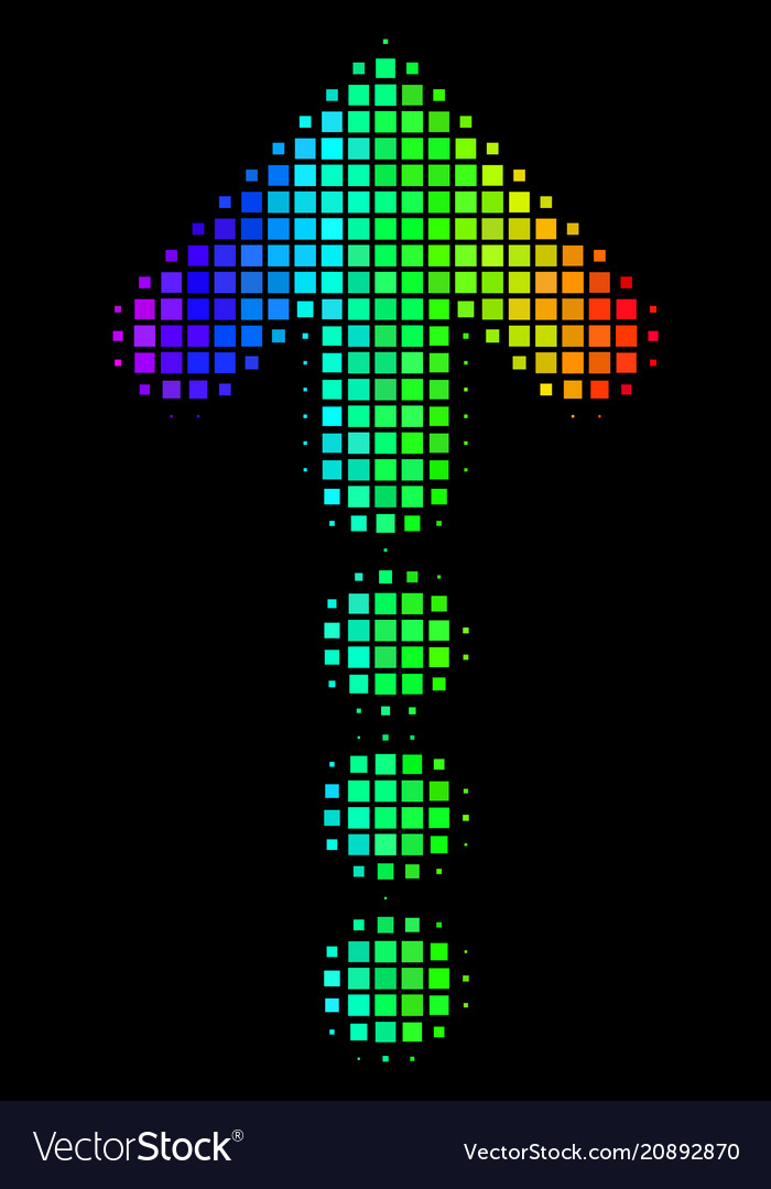 Spectrum dot dotted arrow icon vector image