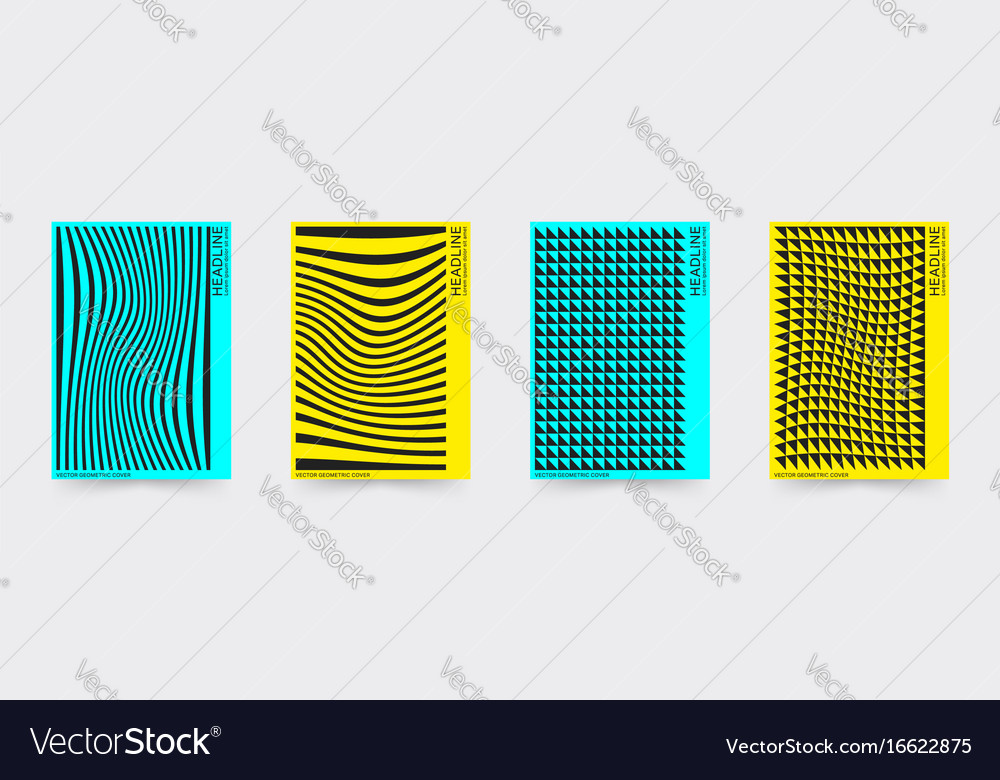 Brochure cover template set vector image