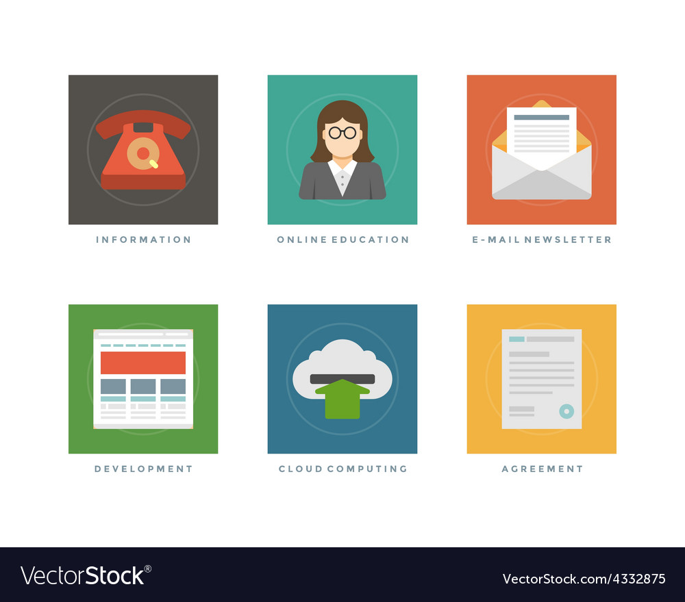 Business flat design icons