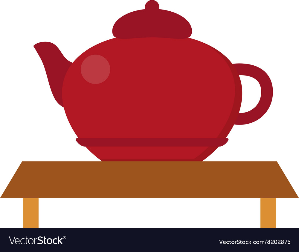 Chinese tea symbols vector image