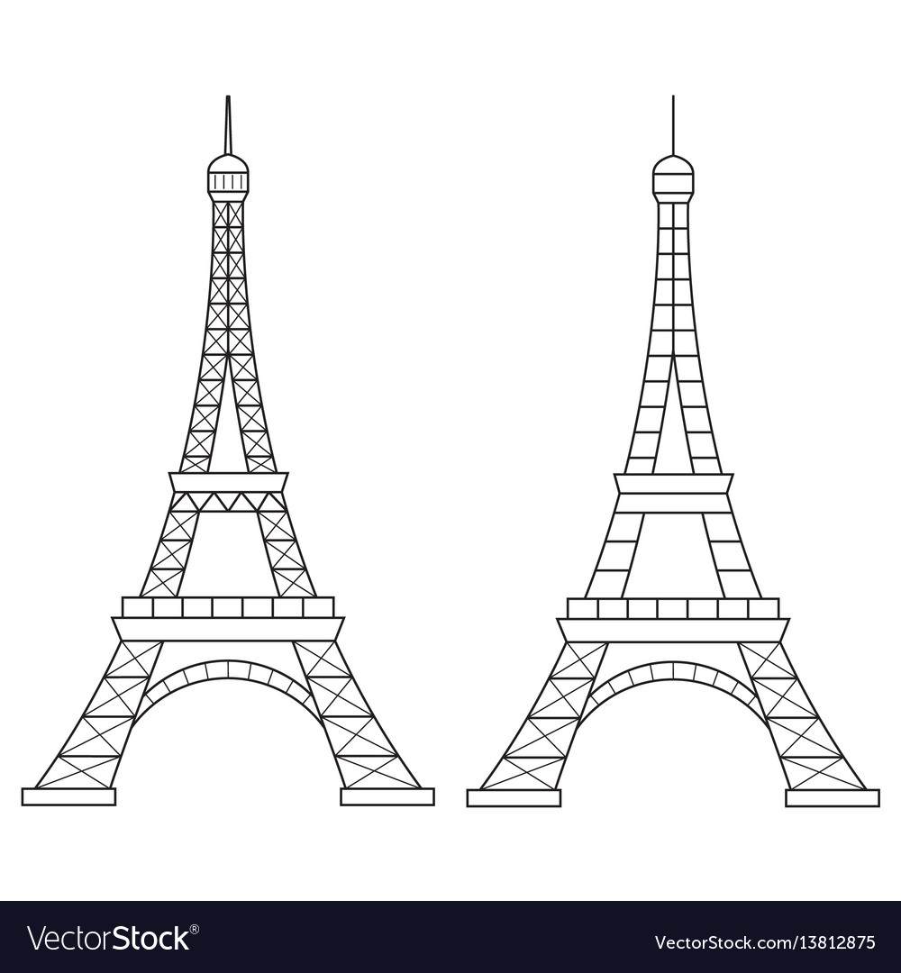 Eiffel tower line icon royalty free vector image eiffel tower line icon vector image thecheapjerseys Gallery