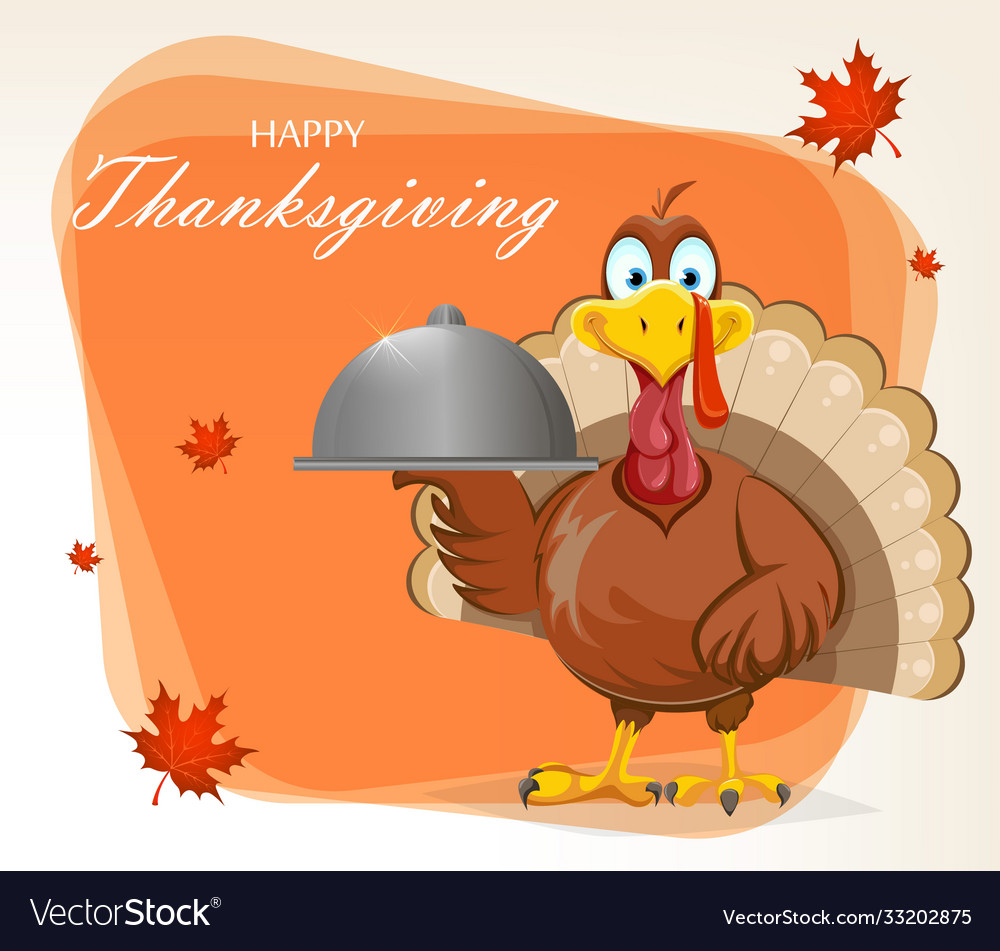 Happy thanksgiving day funny turkey bird