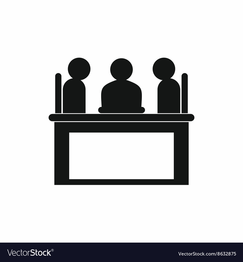 Job interview icon simple style vector image