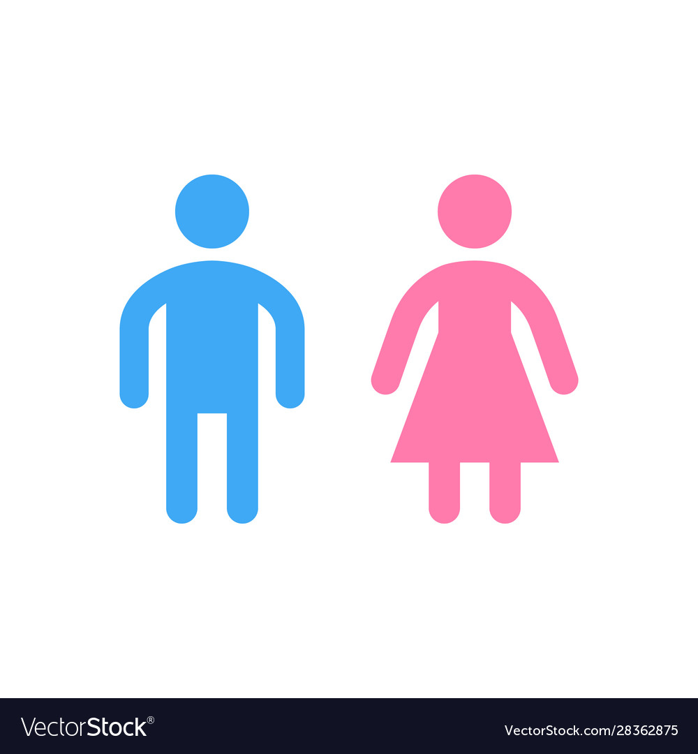 Male and female restroom or toilet glyph icon