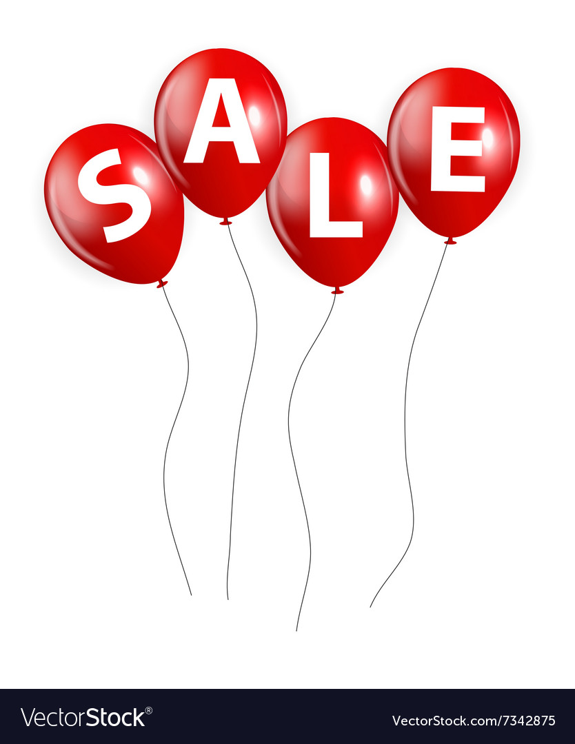 Sale Balloon Sign vector image
