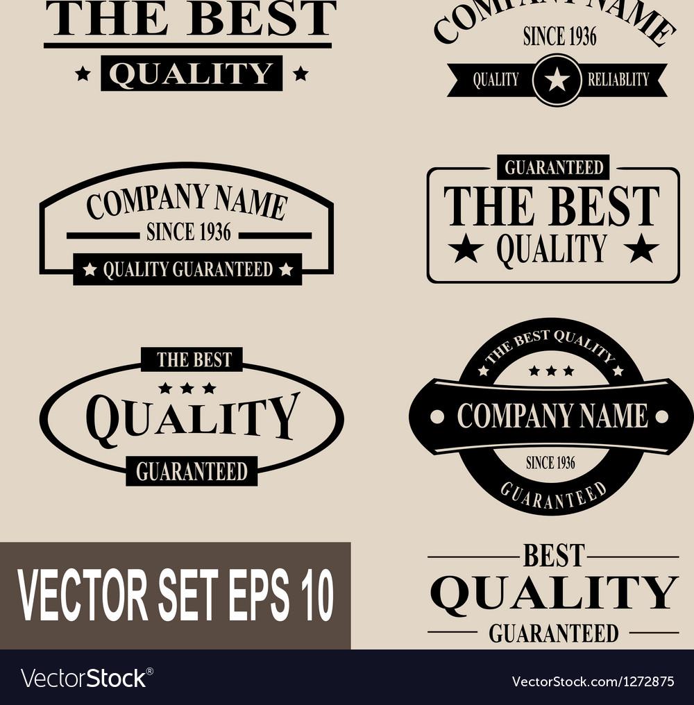 Set of vintage quality garanteed labels