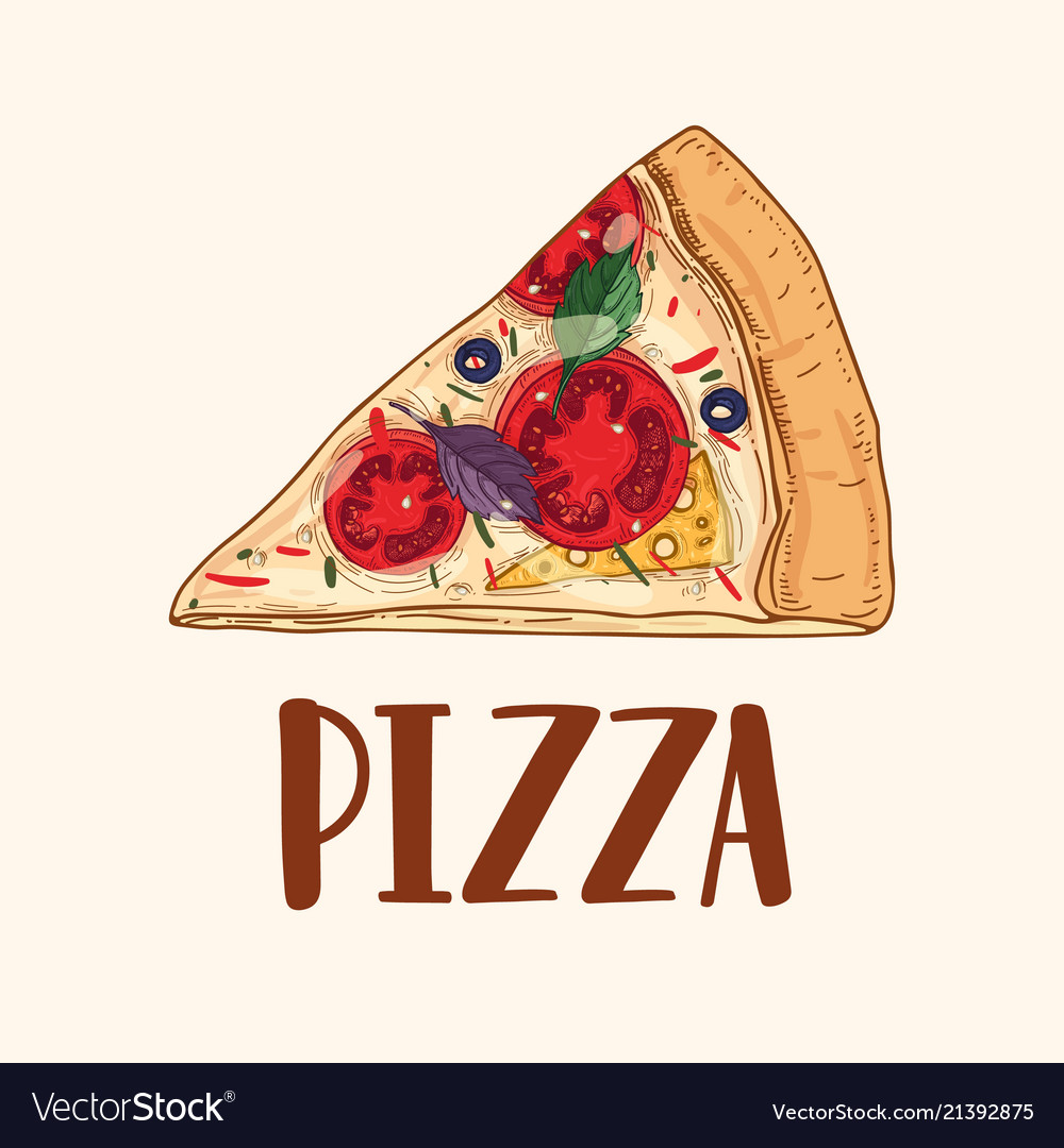 Slice or piece of appetizing delicious classical