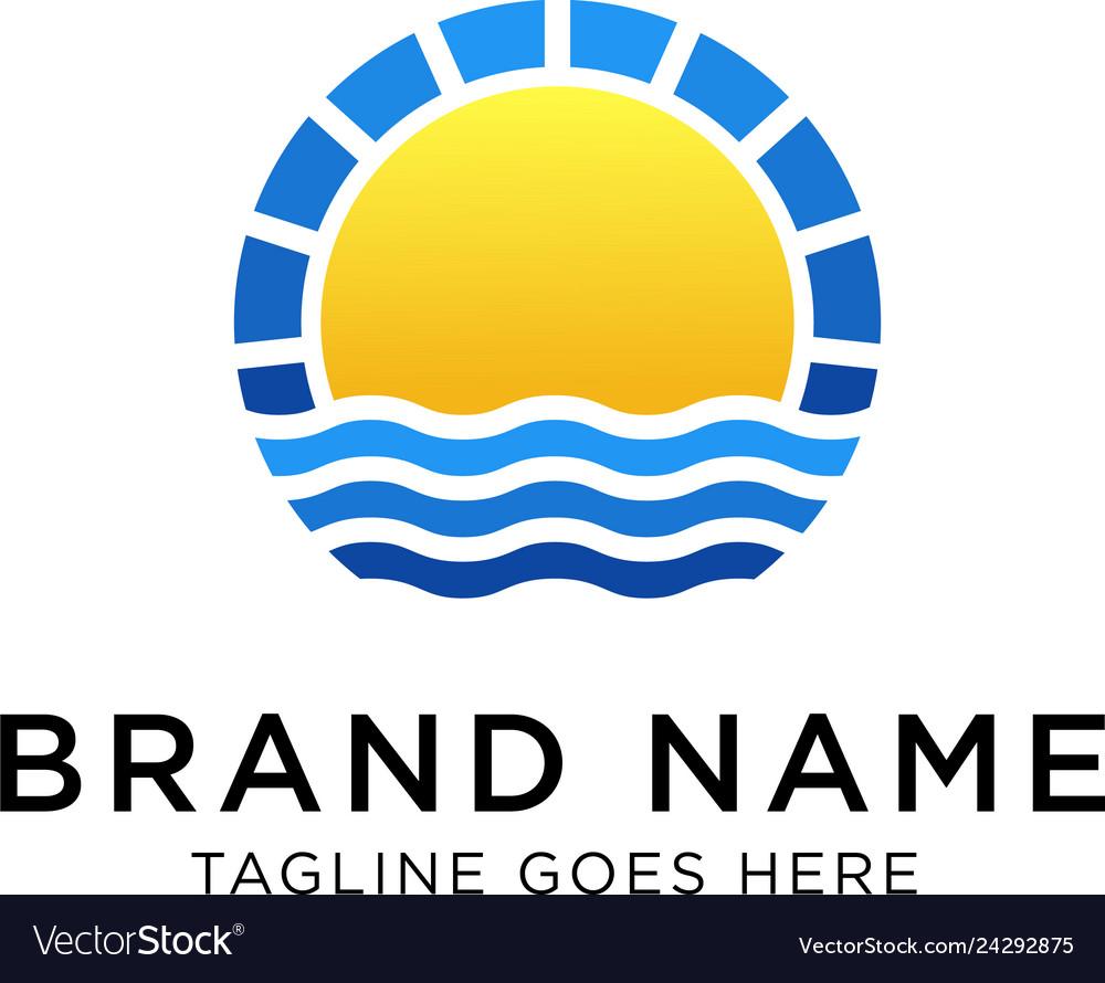 Sunrise logo design template