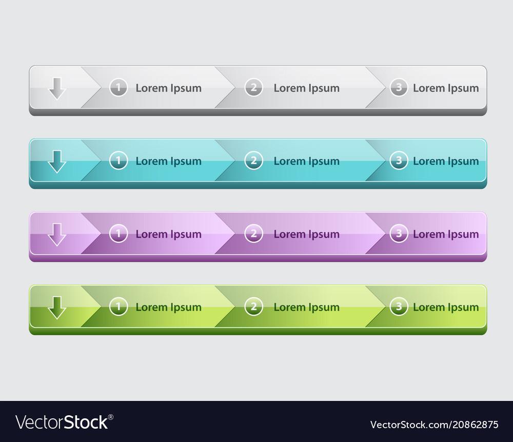 Web site design menu navigation elements with