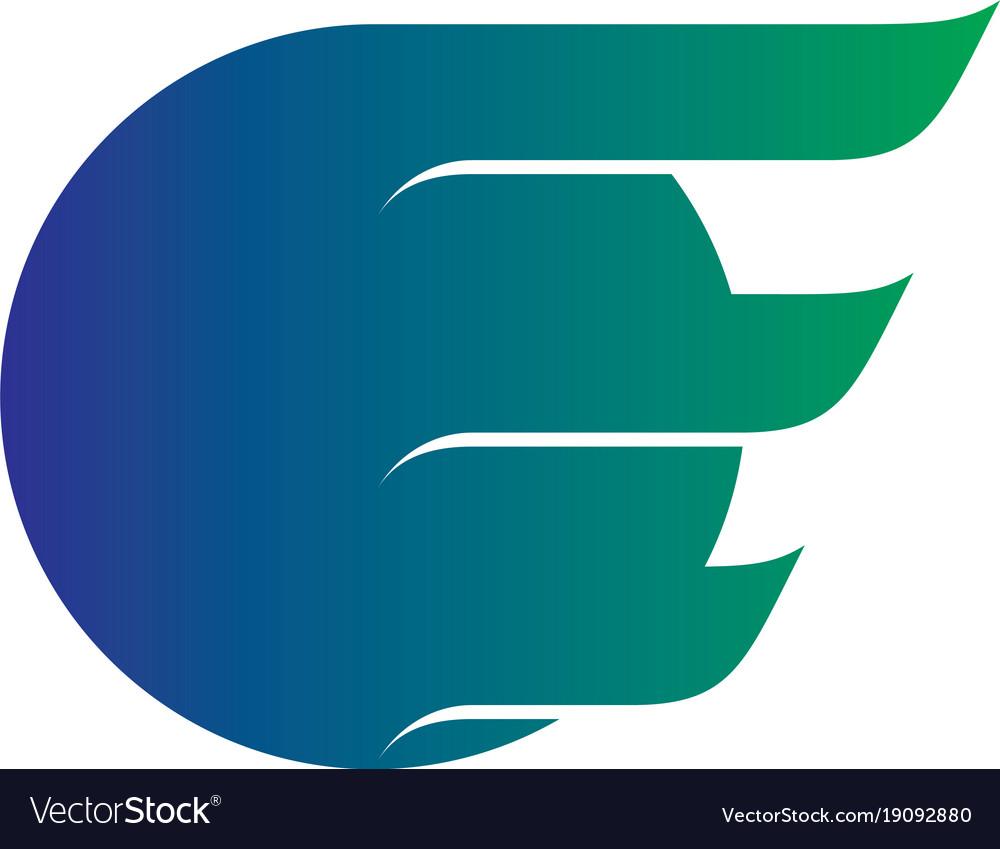 Abstract circle wing business logo vector image