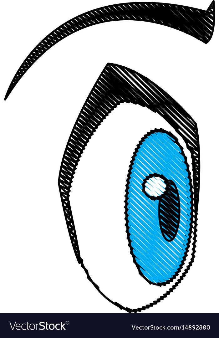 Cartoon eye expression emotion image