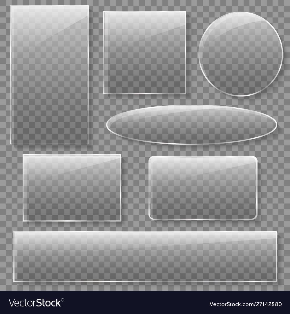 Glass plates set square rectangle