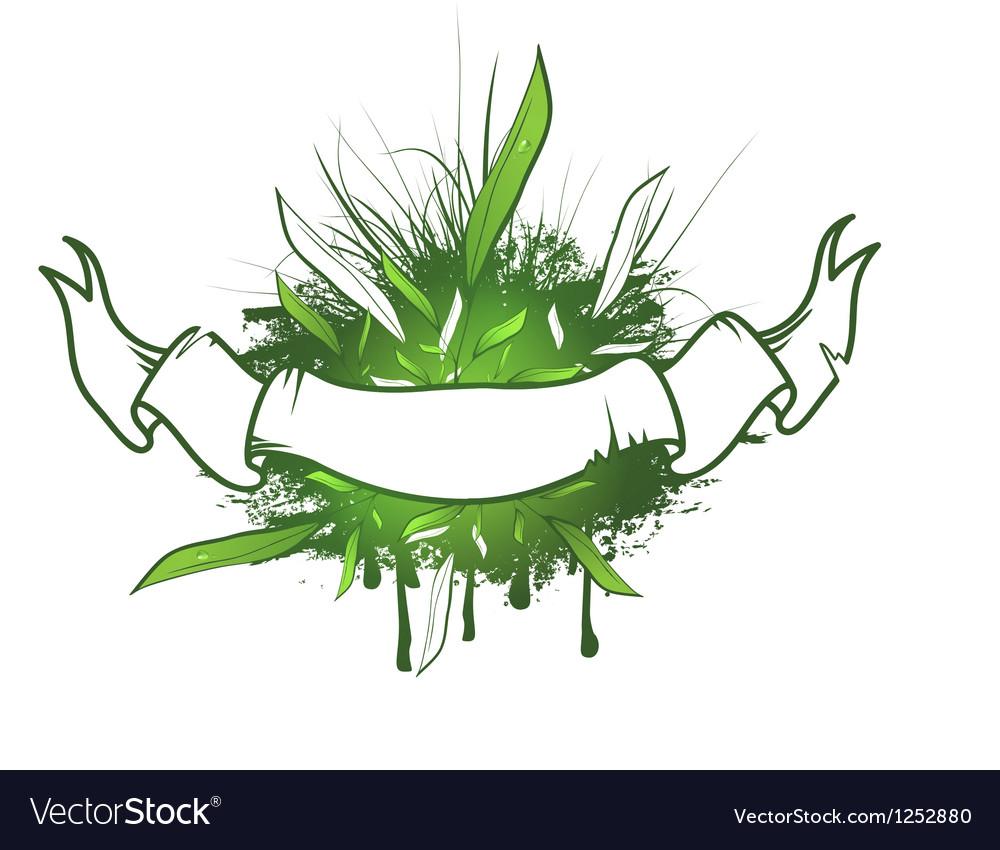 Green leaf ribbon design