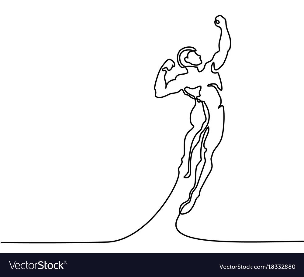 Strong man jumping higher for sucsess vector image