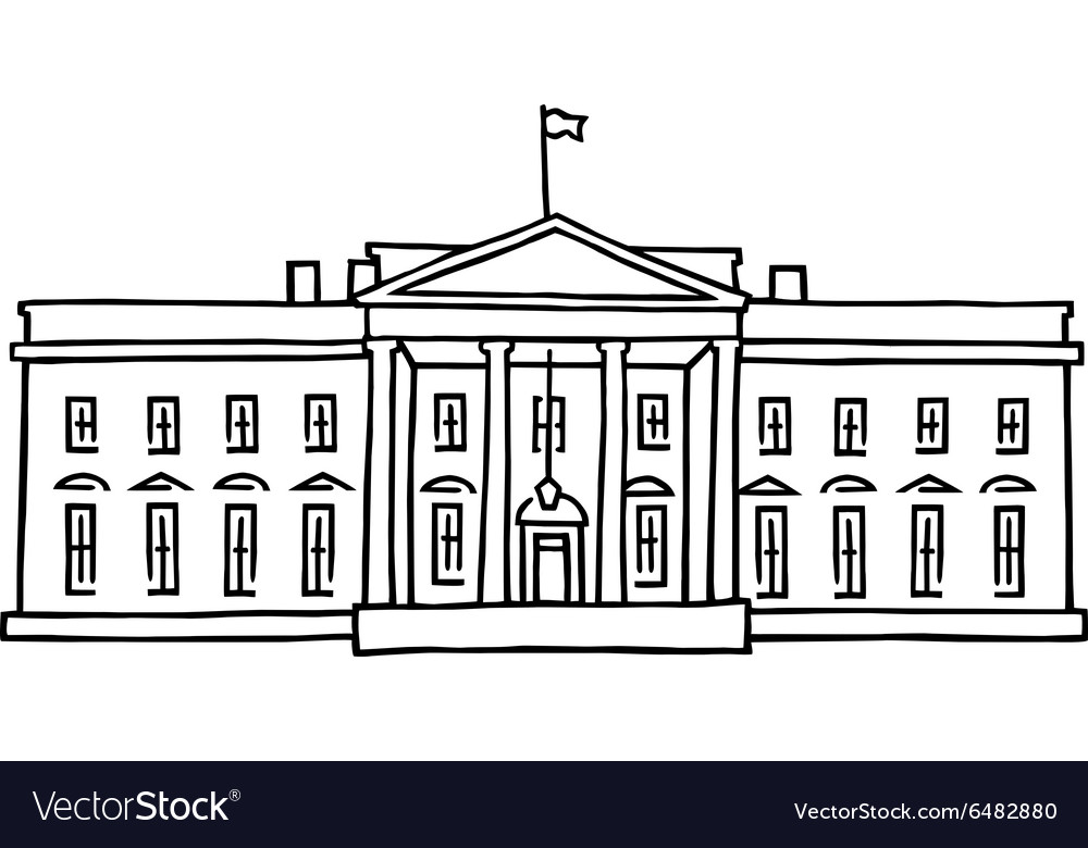the white house washington dc royalty free vector image rh vectorstock com white house victory garden 2017 White House Aerial
