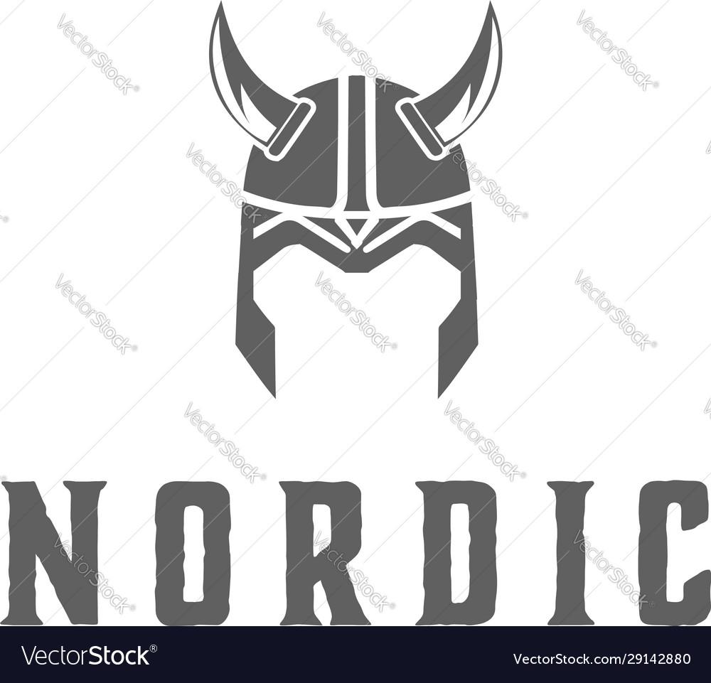 Viking armor helmet logo design for boat ship cr