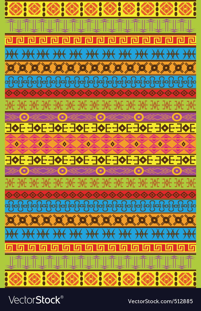 African patterns Royalty Free Vector Image VectorStock Simple African Pattern