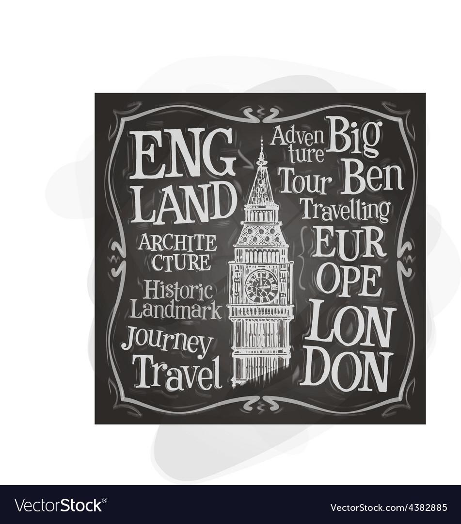 Big Ben logo design template London UK or vector image