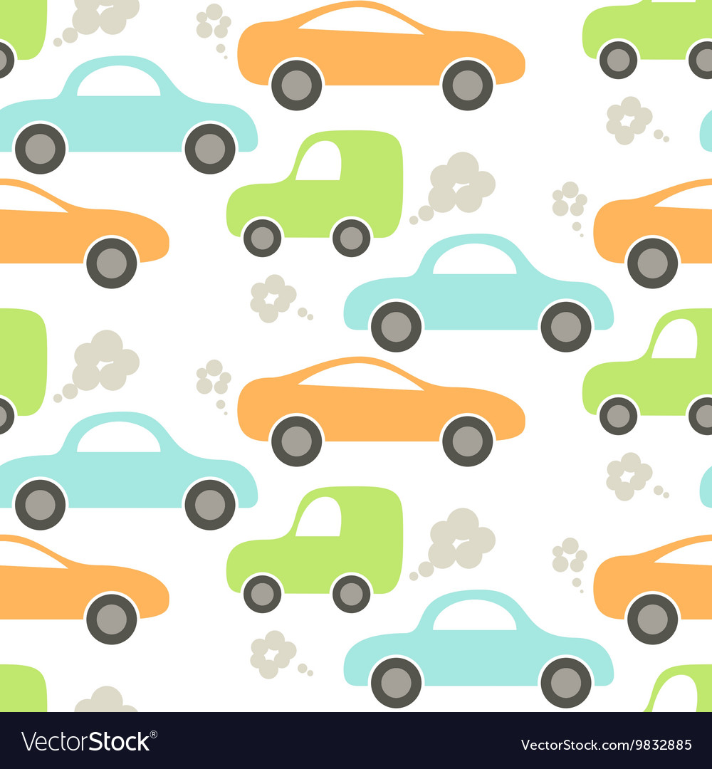 car cute baby seamless pattern royalty free vector image
