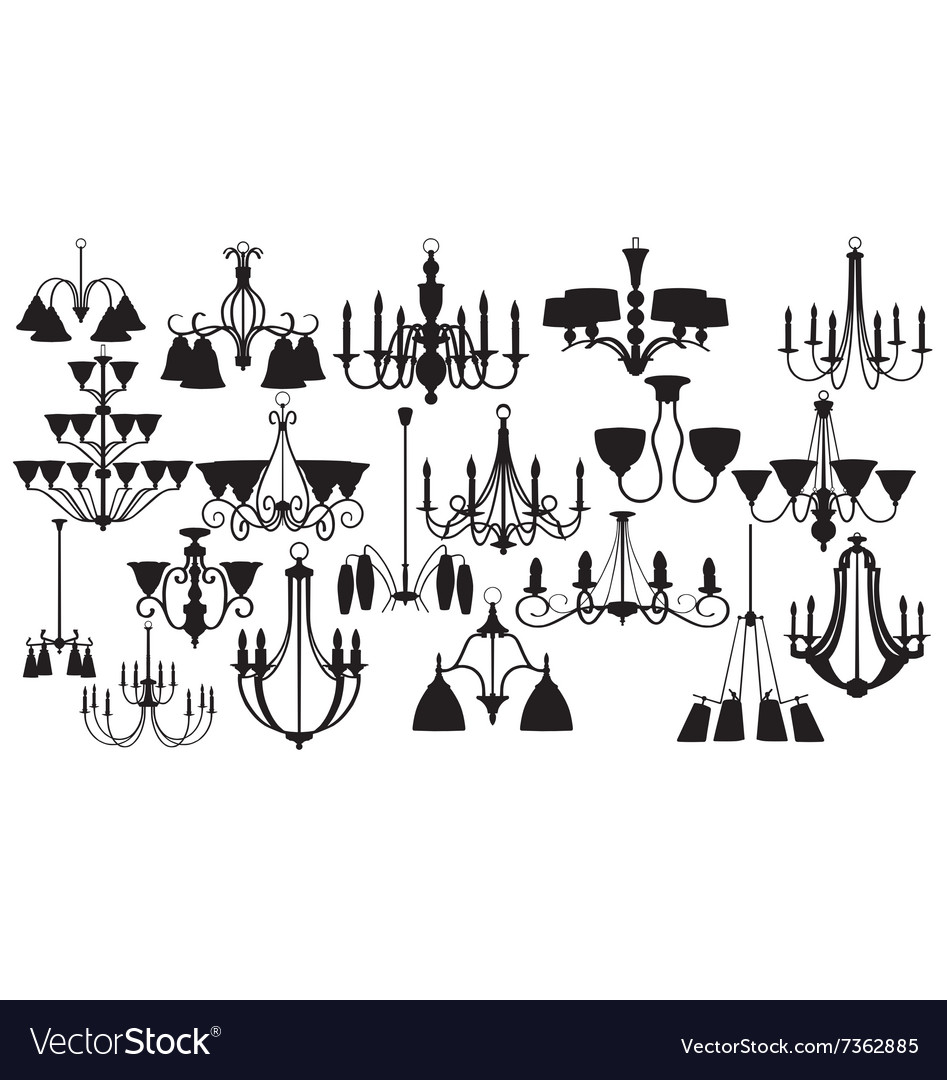 Chandelier silhouettes