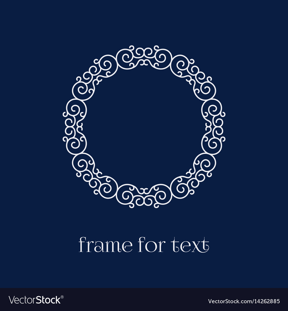 Frame for text
