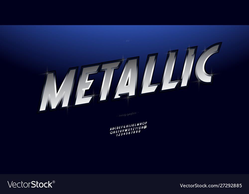Metallic font silver style