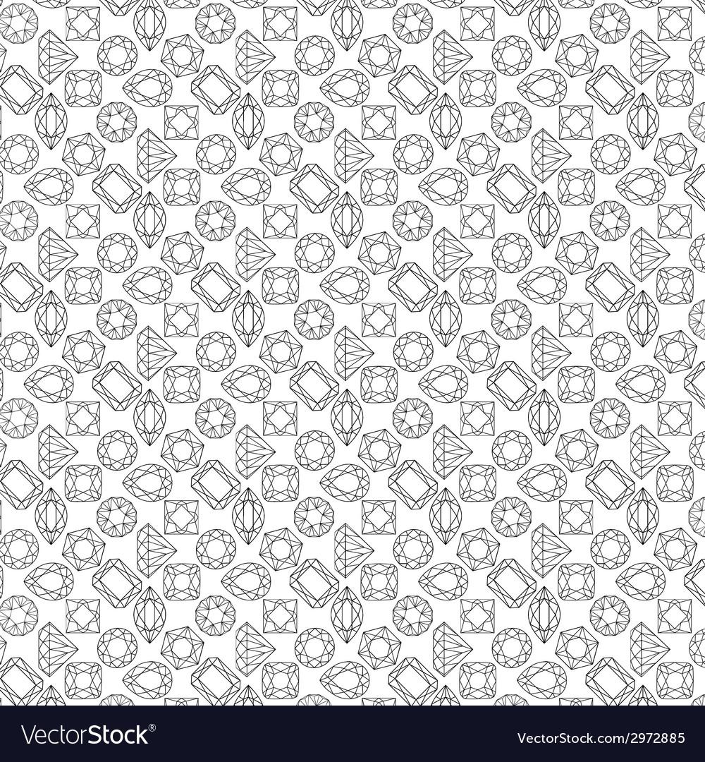 Pattern of circuit cut gems vector image