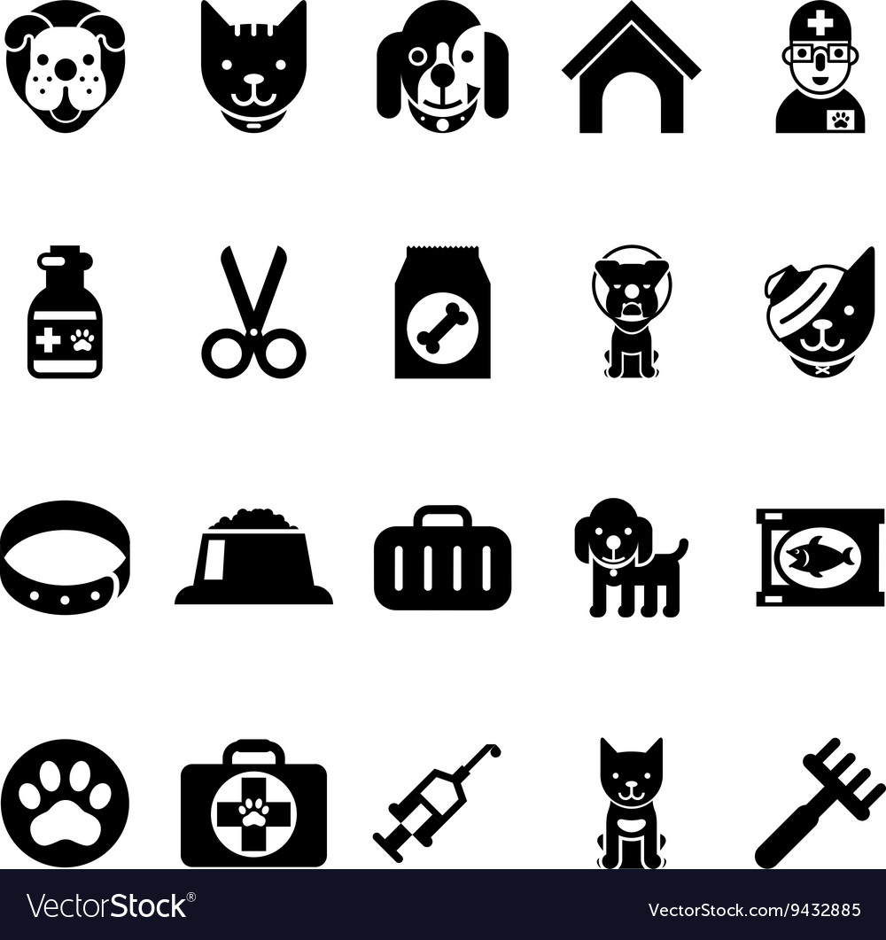 Pets icons vet clinic icons and veterinary
