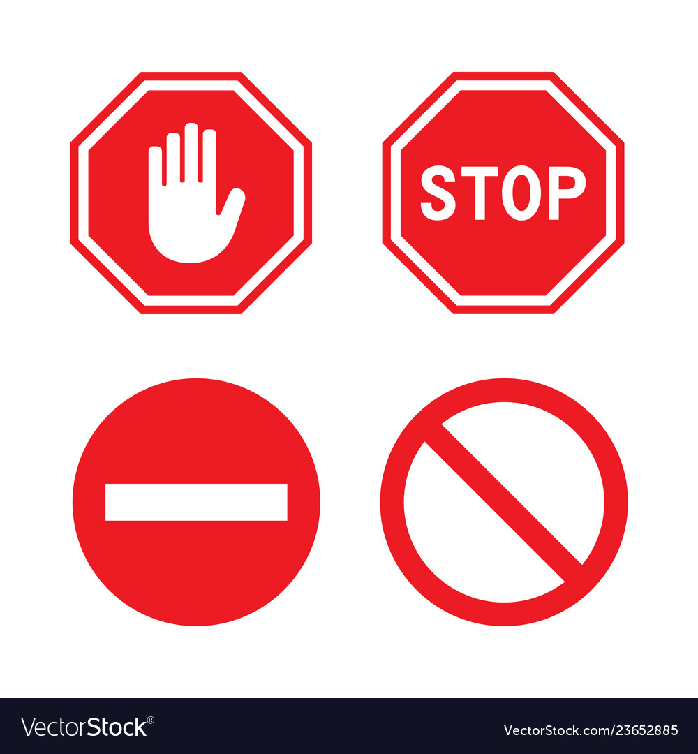 Set stop signs vector