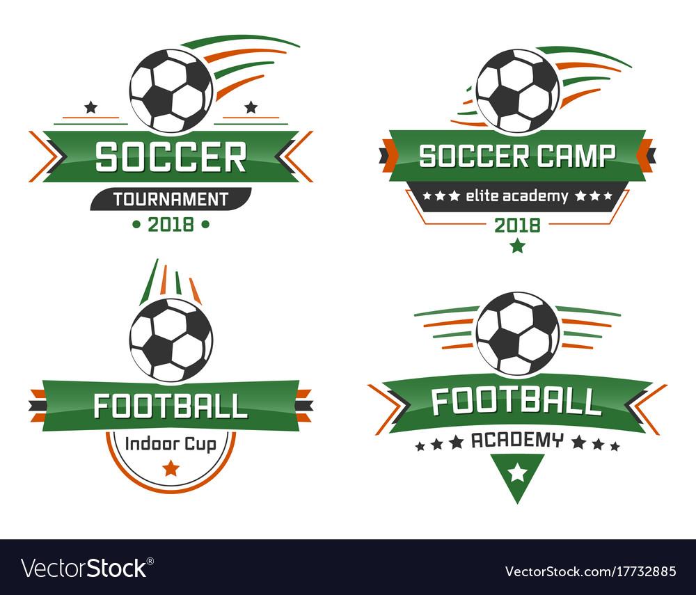 Sport logotype football academy indoor cup soccer