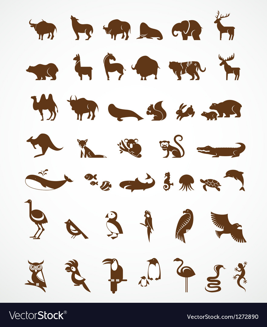 Collection of animal icons
