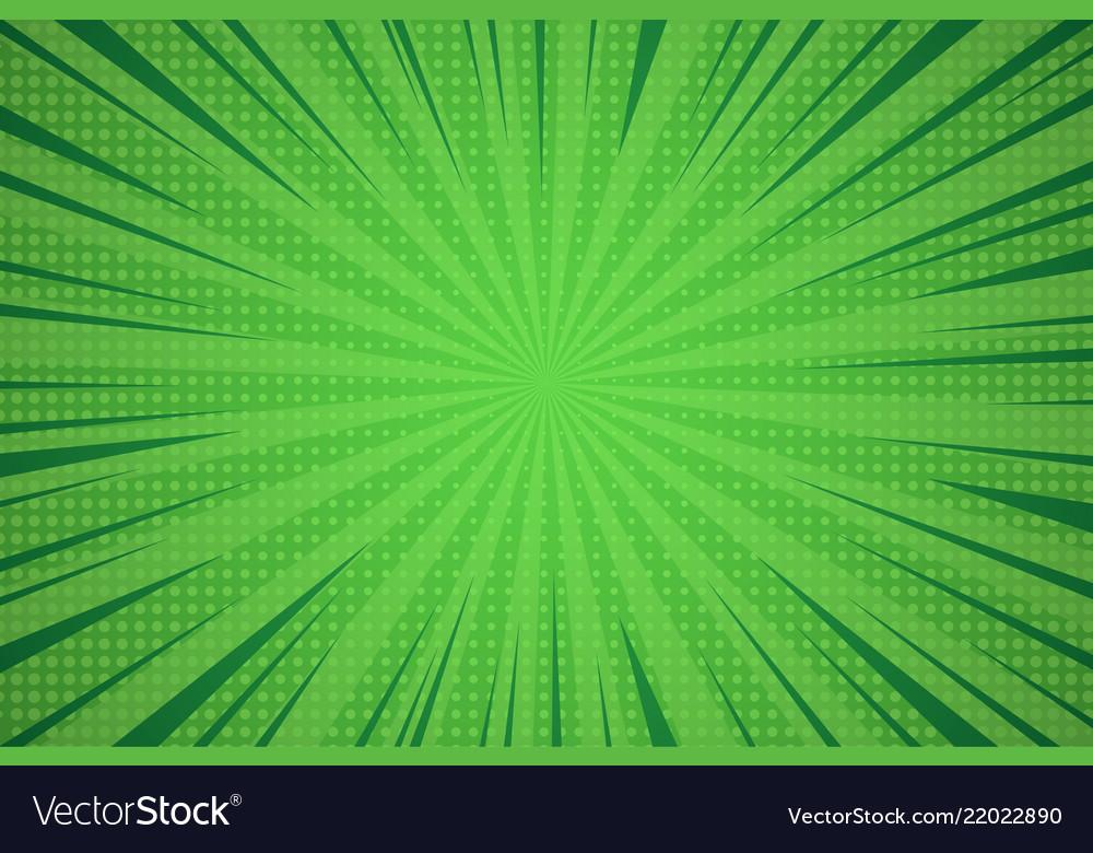 Comic dynamic green background