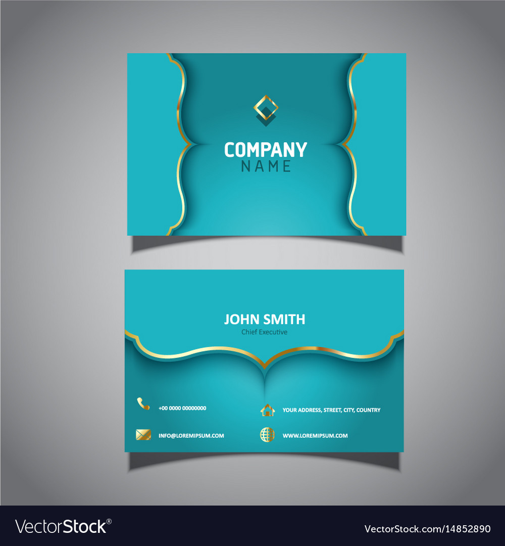 Elegant business card template Royalty Free Vector Image