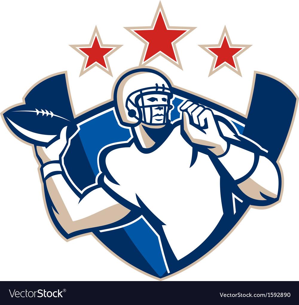 Gridiron Football Quarterback Throw Ball vector image