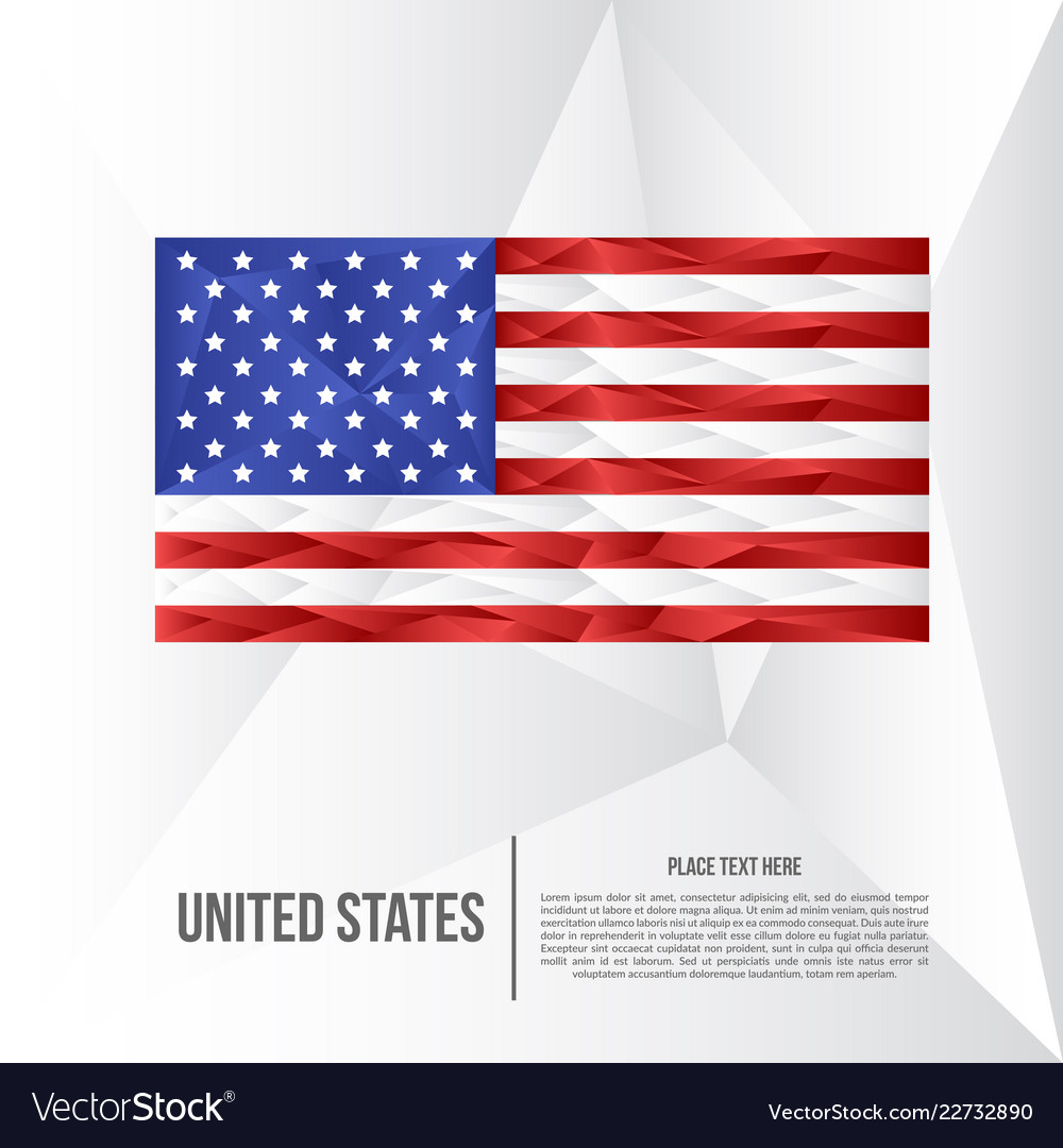 Modern united states low poly background