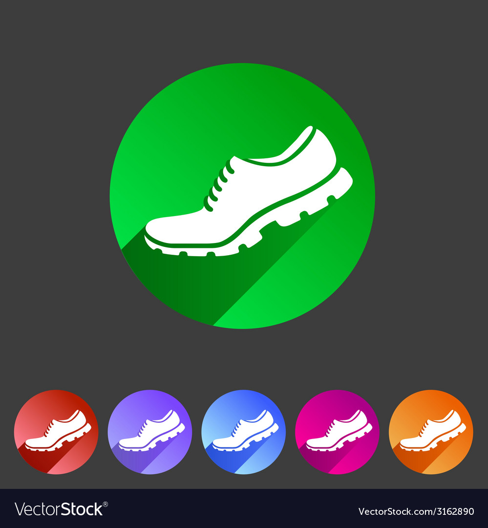 Running shoe sneaker trainer flat icon
