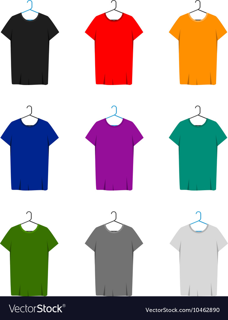 Short Sleeve T-shirts Template vector image