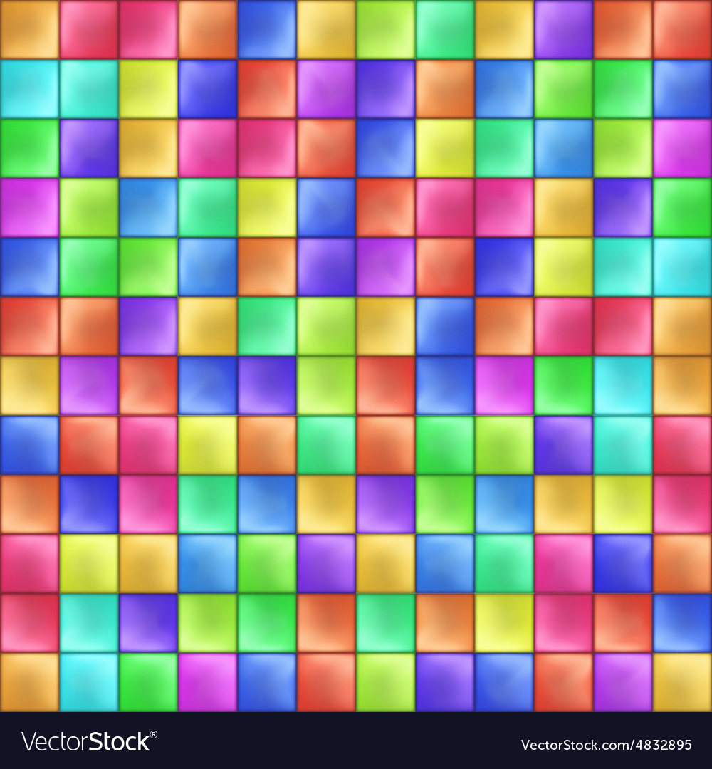 Abstract Colorful Squares Mosaic Pattern