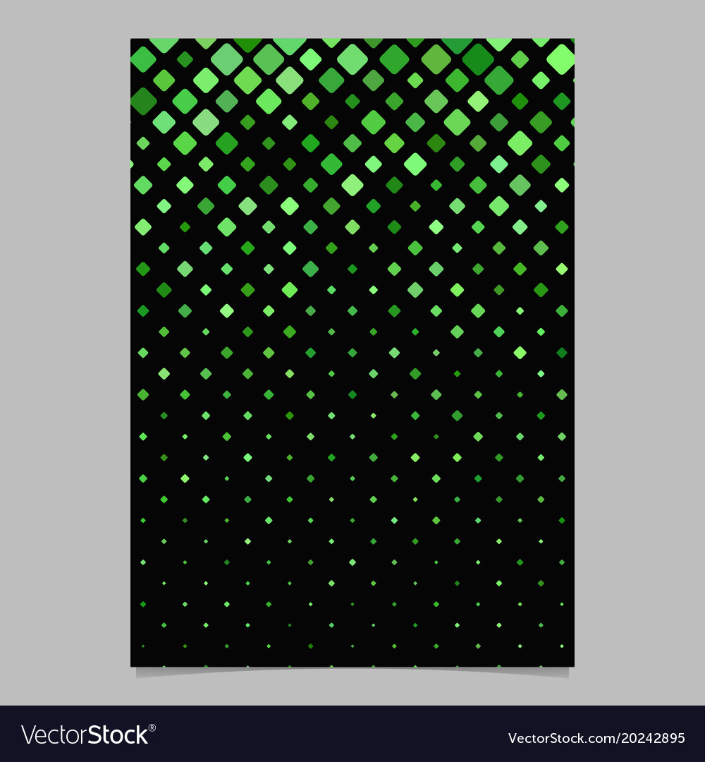 Abstract square pattern brochure design - tile
