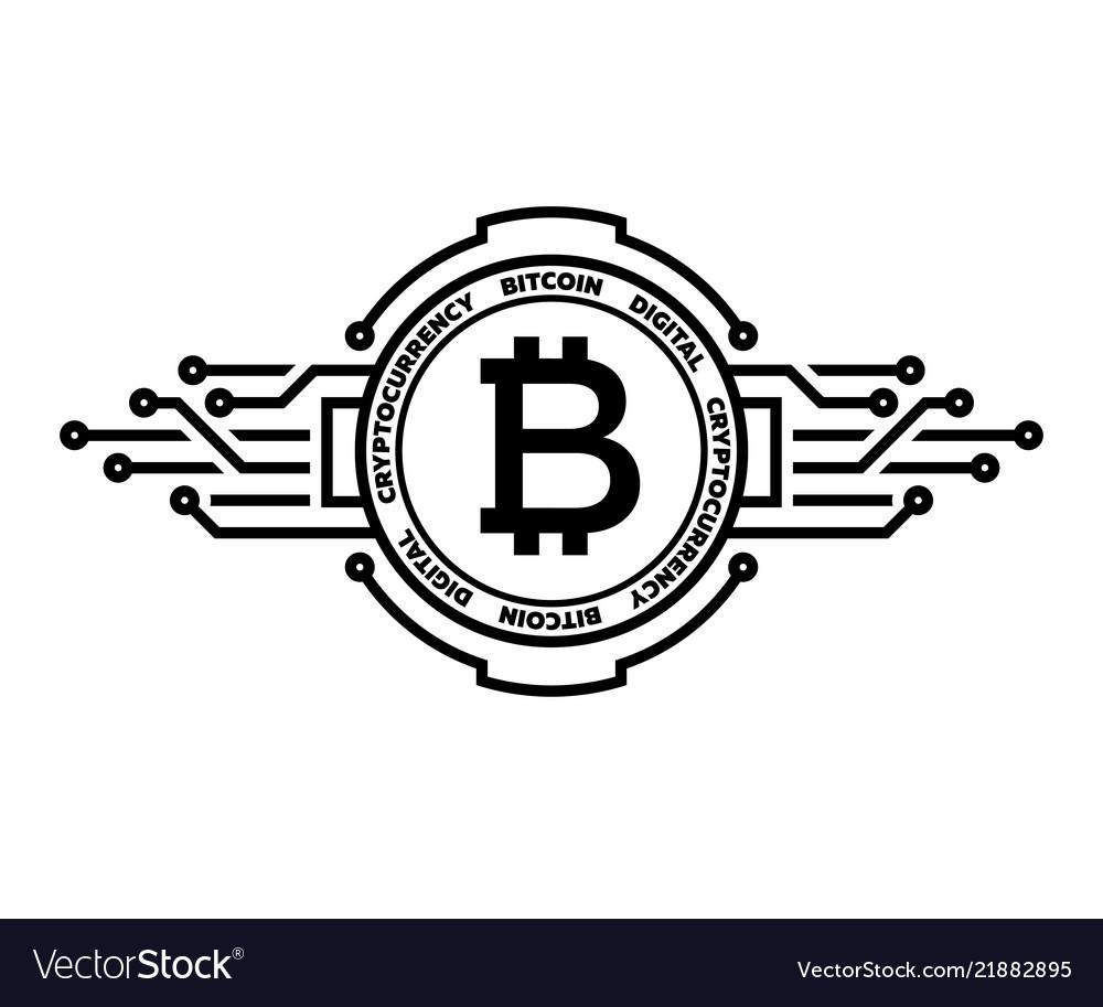 Bitcoin abstract silver symbol internet money