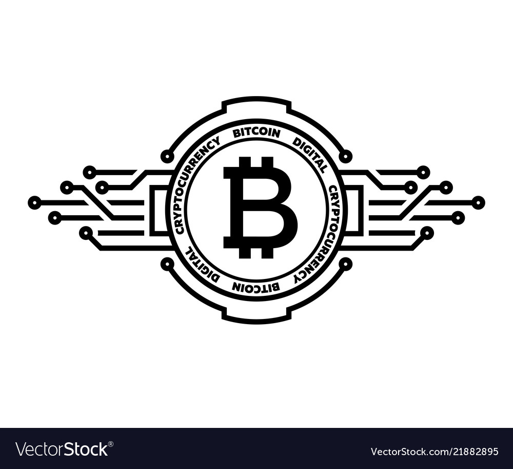 Bitcoin abstract silver symbol of internet money