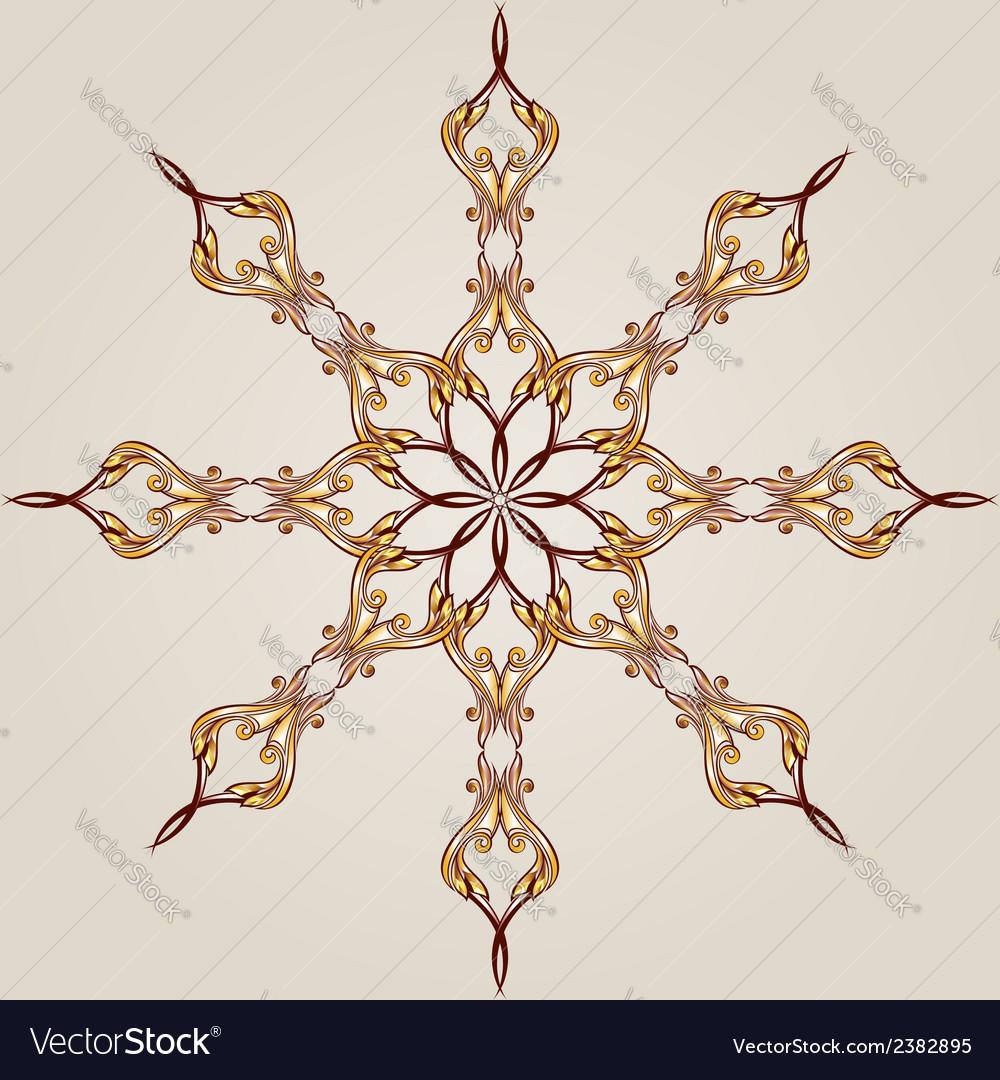 Flower pattern henna