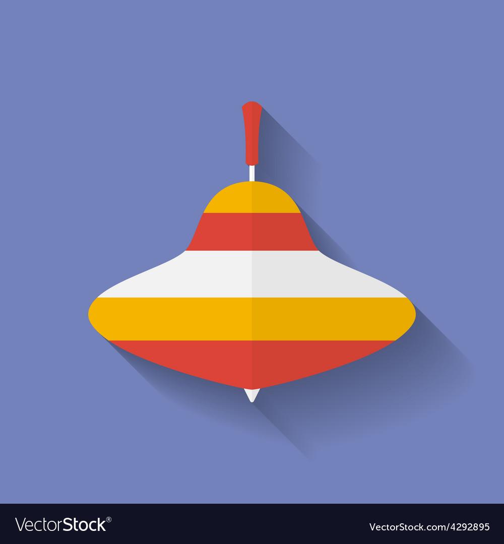 Icon of whirligig Flat style
