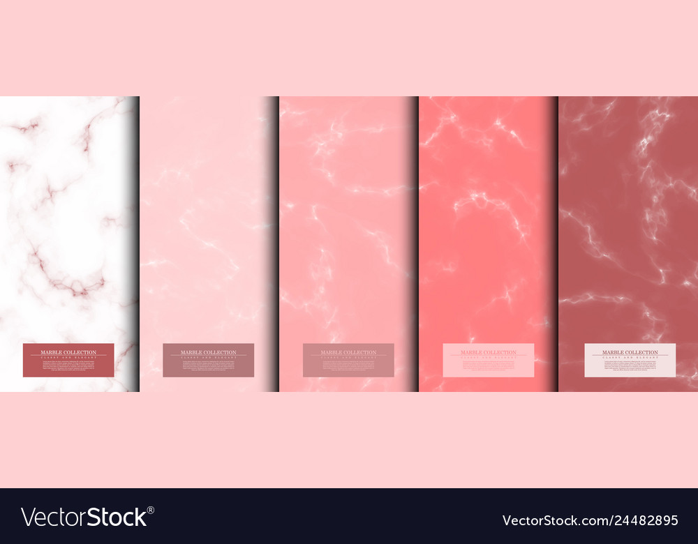 Marble collection abstract pattern texture rose