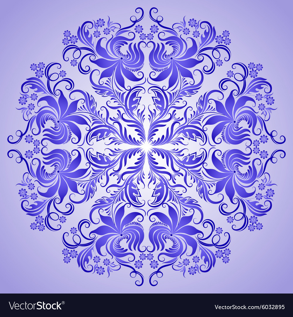 Pattern of blue ornament for design