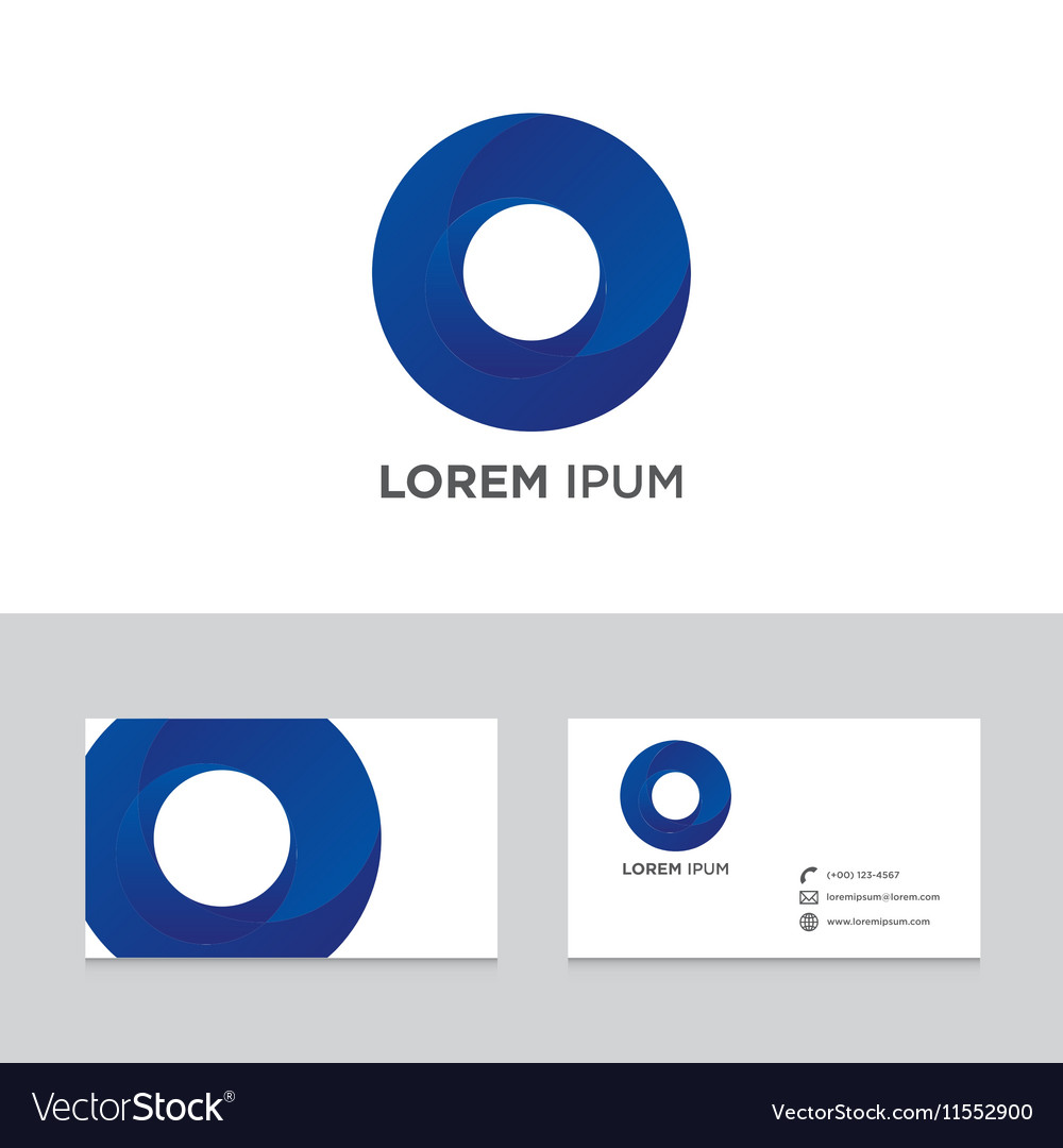 Abstract logo brand icon business card template vector image colourmoves