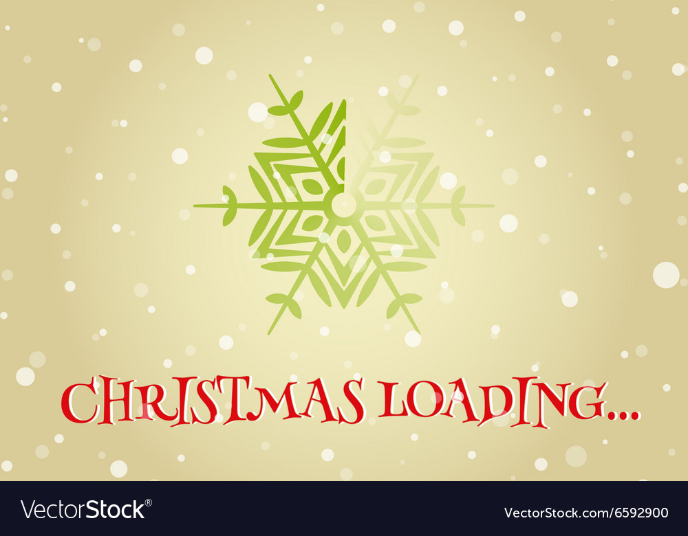 Christmas loader from snowflake vector image