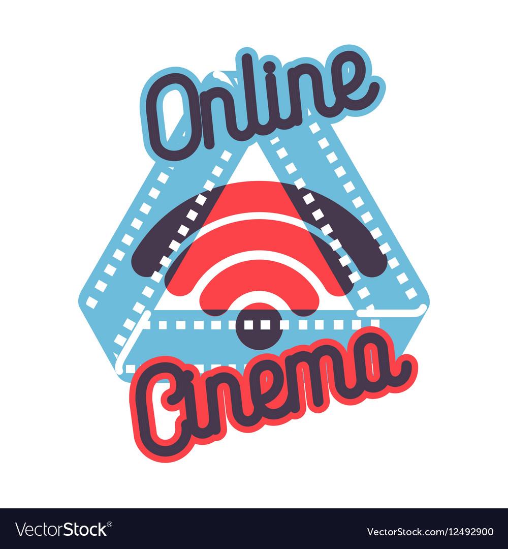 Color vintage online cinema emblem