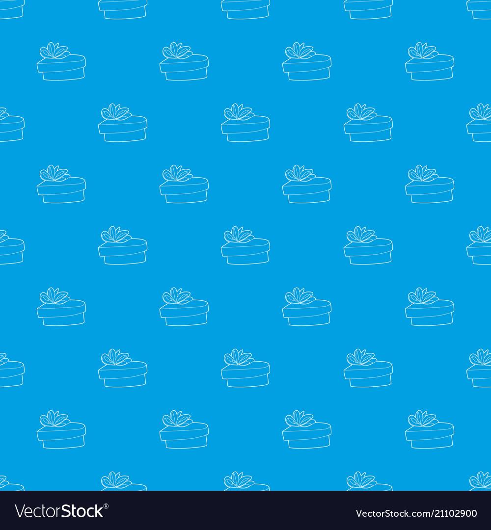 Gift pattern seamless blue