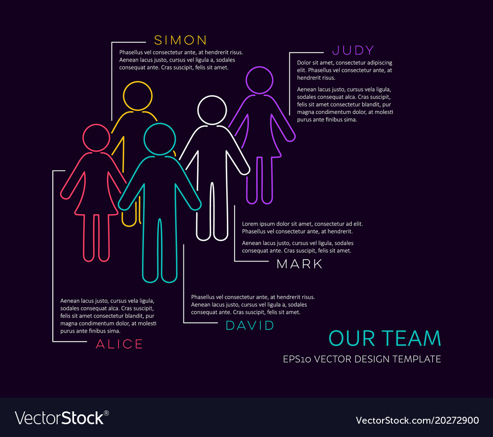 Infographic our team design